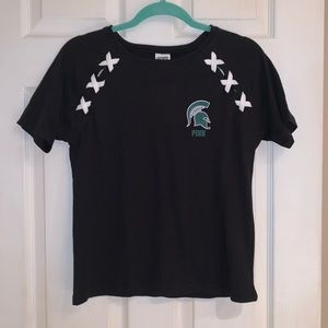 PINK MSU Spartans Shirt - NWT